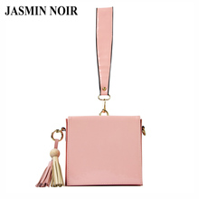 2017 Korean New Patent Leather Women Messenger Bag Small Summer Fashion Female Crossbody Clutch Bag Cheap Tassels Bag Flap(China)