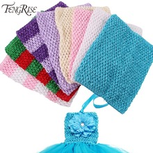 FENGRISE 20X23cm Tulle Spool Tutu Crochet Chest Wrap Tube Tops Apparel Sewing Knit Fabric Girl Birthday Gifts Headbands Skirt(China)