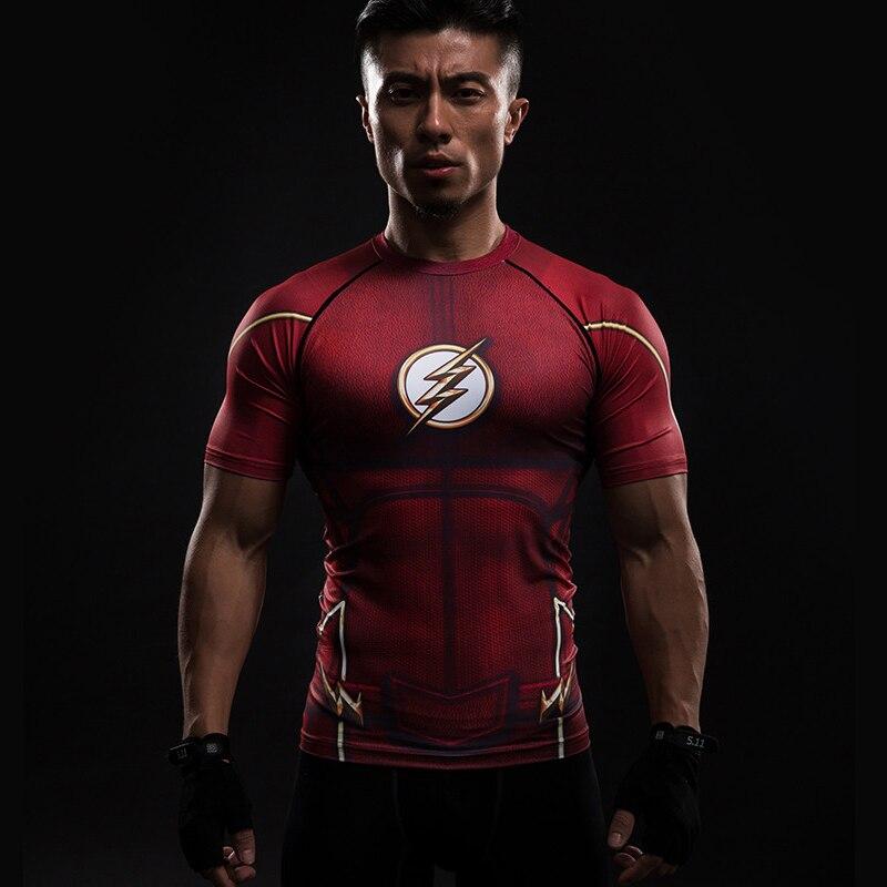 Short Sleeve 3D T Shirt Men T-Shirt Male Crossfit Tee Captain America Superman tshirt Men Fitness Compression Shirt Punisher MMA 22