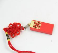Red Chinese Knot Ceramics Ceramic Usb Flash Drive Pen Drive 512GB 64GB USB Stick 32GB Pendrive 128GB Disk On Key Computer Gift(China)