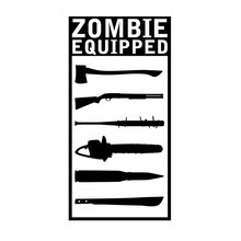 8.5CM*17CM Zombie Equipped Sticker DecalsCar Off Road Truck Ute Van Reflective Car Styling Sticker Black Sliver C8-1123(China)