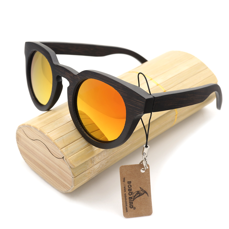 BOBO BIRD B042 Womens Black Cat Eye Wood Sunglasses UV Polarized Coating Bamboo Sunglasses in Box<br><br>Aliexpress