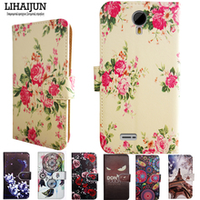 LIHAIJUN For Micromax Q415 Case Quality PU Leather Cartoon Case Cover For Micromax Canvas Pace 4G Q415(China)