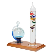 Fashion Weather Forecast Crystal Drops Globe Shape Rainstorm Glass Thermometer For Home Room Office Desk Decor Crafts(China)
