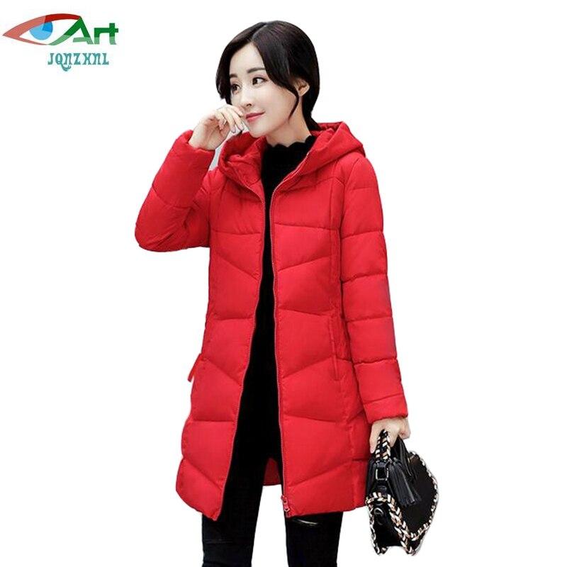 JQNZHNL 2017 New Winter Warm Parkas Women Slim Thicken Down Cotton Coats Outerwear Plus Size 3XL Casual Hooded Cotton Coats E757Îäåæäà è àêñåññóàðû<br><br>