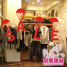 2015 New Design Shop Vinyl Wall Decal Sale Sign Lettering Mural Art Wall Sticker Clothing Store Window Glass Home Decoration(China)