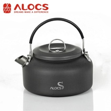 Alocs CW-K02 0.8L Camping Water Kettle Hiking Backpacking Travel Outdoor Kit Aluminum Alloy Camping Cooking Set 100g