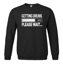 Funny Men Sweatshirt Getting Drunk Please Wait... print 2017 new spring winter men hoodies casual fleece high quality hooded