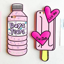 3D fashion summer drink candy girl love mineral water ice cream tear For Iphone 5 5s SE 5G iphone5 soft silicone cell phone case(China)