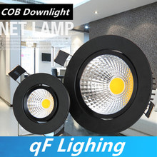 Dimmable Led downlight light COB Ceiling Spot Light 3W 5W 7W 10W 12W 85-265V ceiling recessed Lights Indoor Lighting(China)