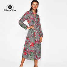 Buy Floral Dress 2017 Casual Ladies Clothing Vintage Runway Dress Women Long Sleeve Dresses 2017 for $26.50 in AliExpress store