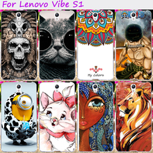 Soft TPU Cool Skull Minions Cute Phone Cases For Lenovo Vibe S1 S1C50 S1A40 5.0 inch Phone Cover Housing Silicone Accessories