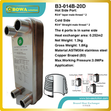 20pcs plates stainless steel heat exchanger for boat heat exchanger equipment replace danfoss plate heat exchanger(China)