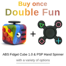 Combo Sale ABS Fidget Cube 1.0 with PSP Fidget Sinner Hand Finger EDC Desk Toy Magic Cube Puzzles Hand Feeling for Relief Stress
