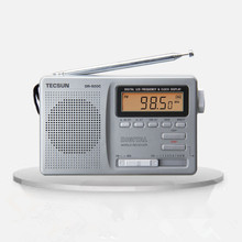 Tecsun DR-920C Radio FM MW SW 12 Band Digital Clock Alarm Receiver & Backlight FM Portable Radio Recorder Grey Y4139H