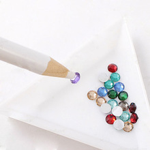 2pcs/lot DIY Nail Art Pencil Pen Dotting Pick Up Rhinestones Crystal Beads Strass Gems Picking Tools Manicure