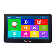 KEELEAD 8GB/256MB Car GPS Navigator 7inch HD Bluetooth AVIN Capacitive screen FM Vehicle Truck GPS Europe Lifetime Map WINCE 6.0(China)