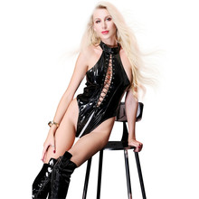 Buy light halter Cardigan Bandage Big back Tighten triangle High fork body sexy lingerie porno latex catsuit bodystocking lenceria