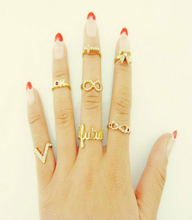 SBY0222 7PCS/Lot Fashion Amazing Hot Sale Big Lord or the Ring Jewelry