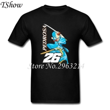 Moto GP Dani Pedrosa TShirts Man O-Neck Hip Hop T-shirts TeenBoys Short Sleeve Plus Size Tee Shirt Homme Cotton Jersey Blouse(China)