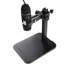 Portable USB Digital Microscope 1000X 8 LED 2MP Digital Microscope Endoscope Magnifier Camera+Lift Stand+Calibration Ruler(China)