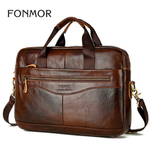 Genuine Leather Briefcases Men Handbag Natural Real Cowhide Business Shoulder Bag Hand bags High Quality