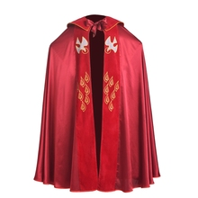Red Green Catholic Church IHS Embroidery Holy Bishop Priest Cope Liturgical Vestment(China)