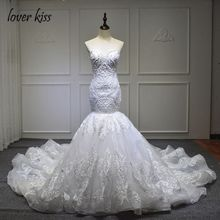 Buy Lover Kiss Vestido De Noiva High Elegant Sweetheart Wedding Gowns Bridal Dresses Vintage Mermaid Lace Wedding Dress for $291.00 in AliExpress store