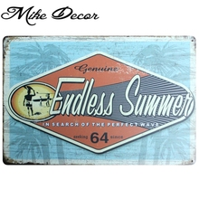 [ Mike86 ] Endless Summer Metal Tin Sign Home Retro Mural Painting Pub Hotel Nostalgia Poster Party Decor 20X30 CM AA-725