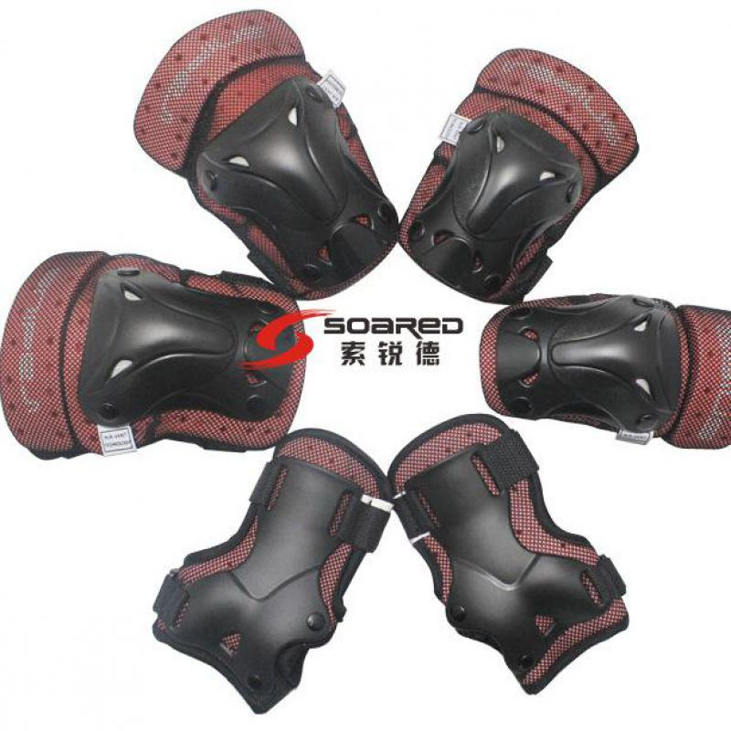 Lot of 3 sets Kid/'s Roller Blading Wrist Elbow Knee Pads Blades Guard 6 PCS Set