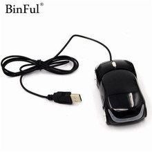 BinFul wholesale Fashion Wired USB Car Mouse 3D Car Shape USB Optical Mouse Gaming Mouse Mice for PC Laptop Computer(China)