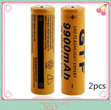 2pcs/set Brand New 18650 battery 3.7V 9900mAh rechargeable li-ion battery for Led flashlight Torch cell 18650 batery