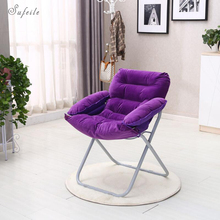SUFEILE Sofa folding computer chair Outdoor folding chair Living room with loungers Outdoor fishing chair Aluminum beach chair