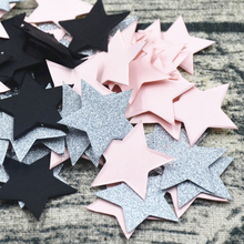 StarsTable Confetti Sprinkles Birthday Party Wedding Decoration Sparkle  Pink Black Silver  Stars Supply Paper Confetti