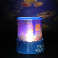 Romantic LED Master Star Sky Starry Night Light Projector Light Lamp Kids Bed Lamp Gift(China)