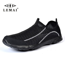 LEMAI Unisex Summer Breathable Water shoes,Mesh Lightweight Men Casual Shoes,Brand Designer Male Beach Shoes #36-47
