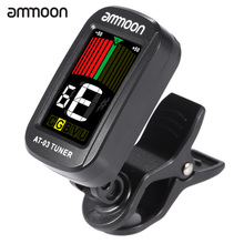 ammoon AT-03 Clip-on Electric Guitar Tuner LCD Screen Rotatable Tuner for Guitar Bass Violin Chromatic Ukulele Universal
