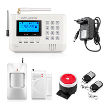 Fuers New arrival LCD Screen 433Mhz Remote Control Home Alarm SMS GSM PSTN Dual Network Home Security gsm Alarm System(China)