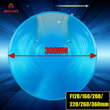 high power traffic light Fresnel lens round PMMA fresnel lens diameter 300mm focal length 220mm solar energy fresnel lens