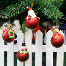 Christmas Tree Baubles Santa Claus Reindeer Snowman Ball Ornaments Party Decor Home Xmas Supplies Accessories(China)