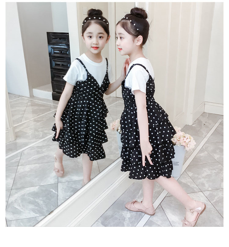 2 Pcs Teenage Girls Clothing Sets Kids Outfits Baby Girls Fashion Clothing Sets Kids Sleeveless Dress And T Shirts Clothes Suits 7 Online shopping Bangladesh