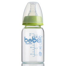 120ML Baby Glass Bottle Standard Mouth Borraccia Straight Mamadeiras Quality Crystal Diamond Newborn 0-6M Baby Feeding Bottle