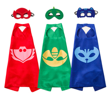 2pcs/set The Hero Mask Anime Supper Hero Cloak Clothing Cosplay Party Decor Supplies Kids Happy Birthday Children's Day Gift Toy(China)