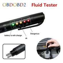 Best Quality Brake Fluid Tester Mini Electronic Pen With 5 LED For DOT3/DOT4 Car Vehicle Diagnostic Tools Car Accessories(China)