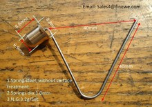 Manufacturer supply brass material pole Spring button clip for trekking poles(China)