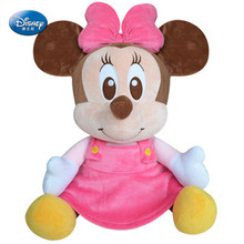 Genuine Baby Minnie Mickey Mouse Plush Toy Children Kids Disney Character Soft Velvet Plush Dolls Christmas Birthday Gift Kawaii