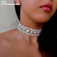 Dvacaman Rhinestone choker statement necklaces for women Fashion Chokers 2017 Collar Jewelry party Chunky Necklace Collier 7477