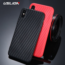 Buy USLION Fashion Carbon Fiber Texture Phone Case iPhone X Soft TPU Silicon Back Cover iPhone 6 6s 7 8 Plus Case Coque for $1.03 in AliExpress store