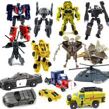 2016 New 7 Style Super Mini Plastic Transformation Robot Car Action Figure Toys Cars Robots Education Toy(China)