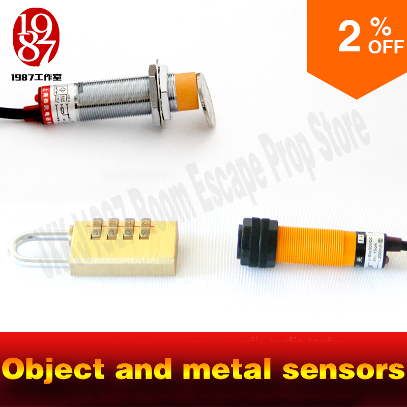 Adventurer game escape room props object and metal sensors prop object and metal close the sensor to unlock from JXKJ1987 escape<br>